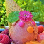 macedonia con gelato festa al parco